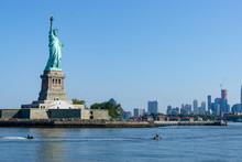 Statue Of Liberty New York Manhattan Background USA