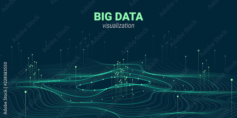 Fototapeta Abstract 3D Big Data Visualization.