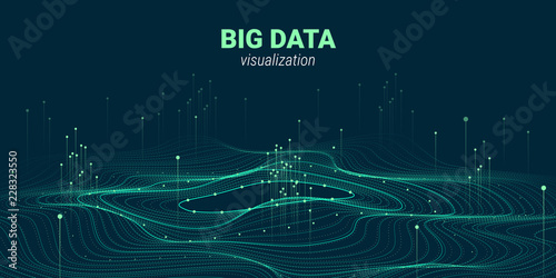 Cuadros en Lienzo Abstract 3D Big Data Visualization.