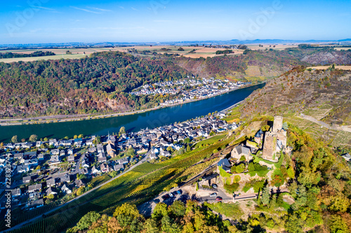 Burg Thurant, a ruined castle at the Moselle river in Germany