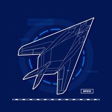 Future War Plane Blueprint