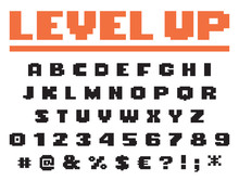 Square Pixel Game Font Perfect...
