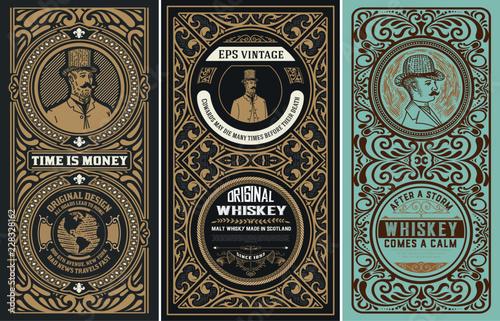 Set of 3 Vintage labels. Ve...