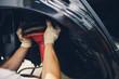 install new cv boot power steering rack.