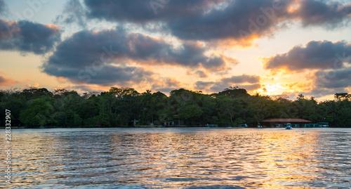 Fotografie, Obraz  Sunset in Tortuguero - Costa Rica