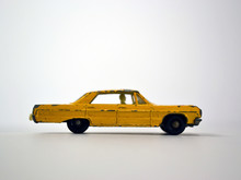 Vintage Toy Car Taxi Yellow