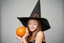 Closeup Of Smiling Halloween W...