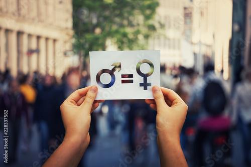 Fototapeta gender equality obraz
