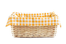 Empty Straw Basket Isolated.