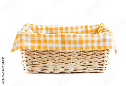 Empty straw basket isolated. Slika na platnu