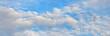 Leinwandbild Motiv Panorama ziehender Kraniche am Himmel