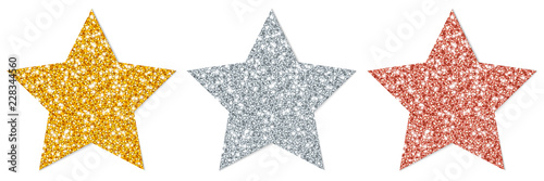 Leinwand Poster  Stars Sparkling Gold/Silver/Copper