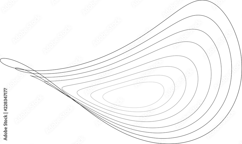 Fototapety, obrazy: Abstract circles in a waving surface - vector