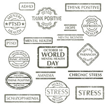 Mental Disorder Stamps Set