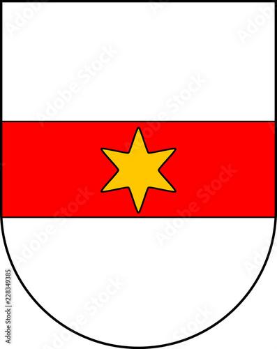 Fotografie, Obraz  oat of arms of the city Bolzano - Italy.