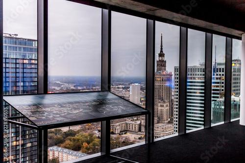 Fototapeta Panorama miasta Warszawa obraz