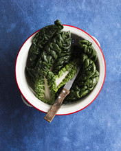 Silverbeet Leaves In A Colande...