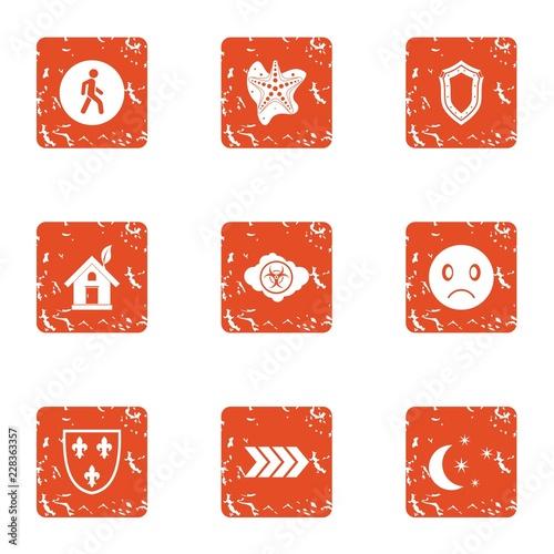Fotografie, Obraz  Ecologist icons set