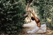 Anonymous Woman Doing Yoga In ...