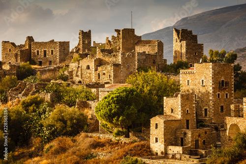 Keuken foto achterwand Historisch geb. Tower houses in Vathia Greece Mani Peninsula