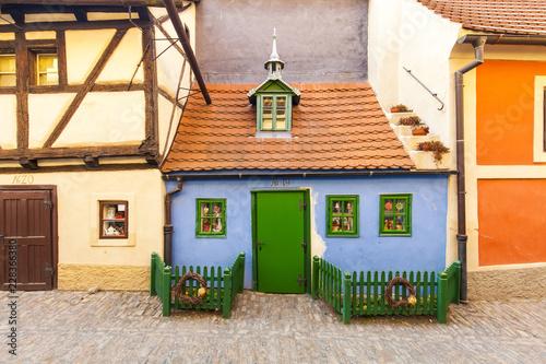 Picturesque Prague street Zlata Ulicka (Golden Lane)