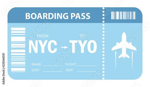 Obraz Plane ticket vector icon - fototapety do salonu