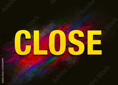 Close colorful paint abstract background Wallpaper Mural