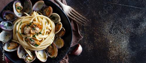 Linguini with clams Fototapet