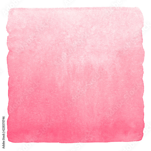 Fotografía  Pink, rose watercolor background with stains