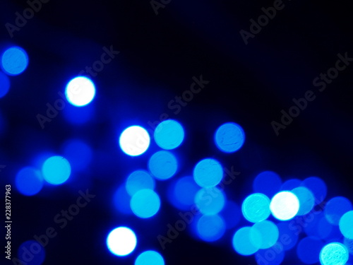 Fototapety, obrazy: Bokeh effect made with christmas lights