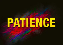 Patience Colorful Paint Abstract Background