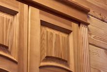 Wooden Door Close-up, Wooden Door Trim, Doorway