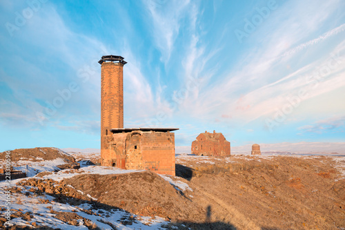 Fotografia, Obraz  Ani Ruins, Ani is a ruined and uninhabited medieval Armenian city-site situated
