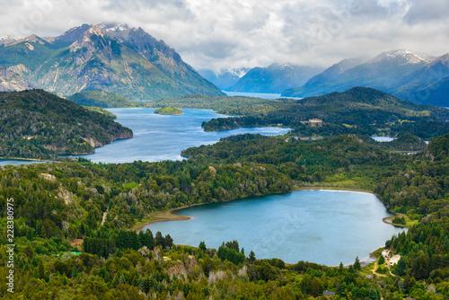 Aluminium Prints New Zealand Nahuel Huapi national park from Cerro Campanario near Bariloche, Argentina