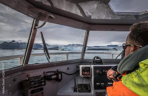 Fotografía Navegando en barco anfibio por Jökulsárlón, Islandia