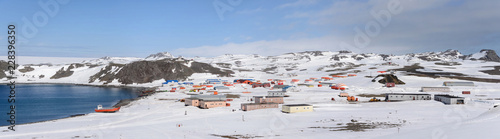 Foto op Aluminium Antarctica Bellingshausen Russian Antarctic research station on King George island