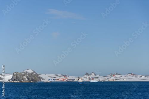 Staande foto Antarctica Bellingshausen Russian Antarctic research station
