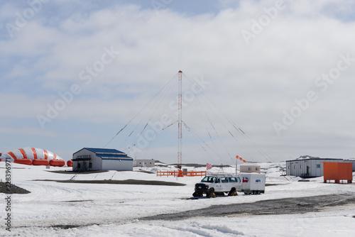 Bellingshausen Russian Antarctic research station, King George island, Antarctica - December 28, 2015: Antarctic transport