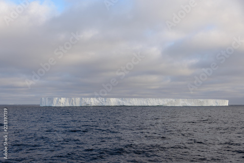 Poster Antarctica Tabular iceberg in Antarctic sea