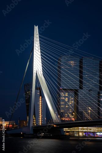 Staande foto Rotterdam Skyline - Rotterdam