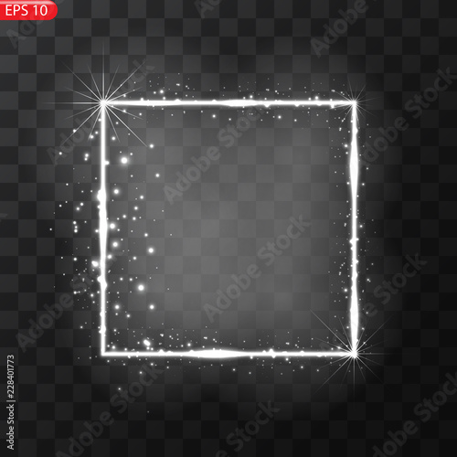 Fotografía  Vector frame with lights effect. Vector illustration, eps