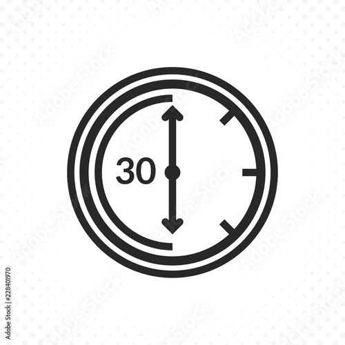 Time countdown icon  Clock and time vector icon, Timer