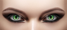 Close-up Of Woman Eyes. Hallow...