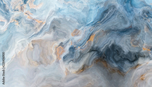 Fotobehang Abstract wave Blue marble background