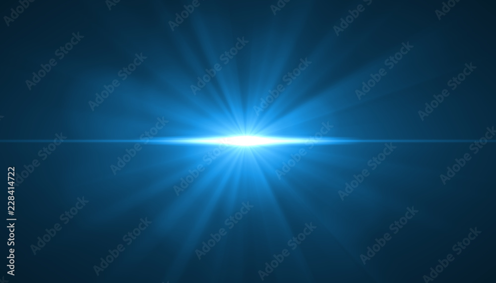 Fototapety, obrazy: glowing light burst explosion on black background. Vector illustration light effect decoration with ray.