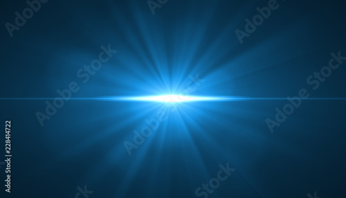glowing light burst explosion on black background. Vector illustration light effect decoration with ray.