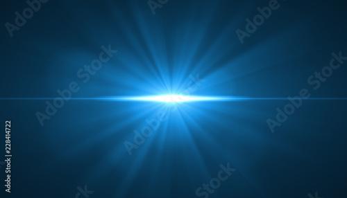 glowing light burst explosion on black background Fototapet