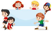 International Kids Blank Banner