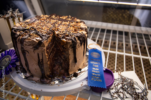 Blue Ribbon Winning Chocolate Cake At County Fair Buy This