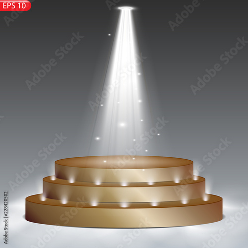 Foto op Canvas Licht, schaduw Stage podium with lighting